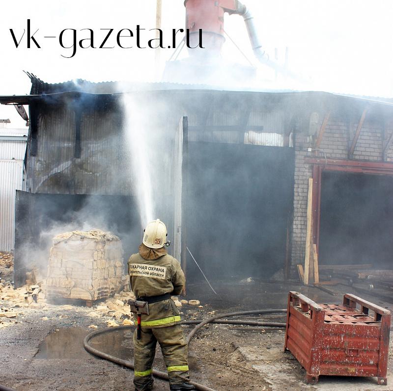 В Шенкурском районе вчера произошёл пожар